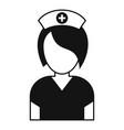 nurse icon simple style vector image vector image