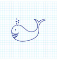 of animal symbol on whale vector image