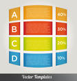 Options Tabs Template vector image vector image