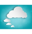 paper cloud for your text vector image vector image
