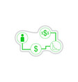 paper sticker on white background economy vector image vector image