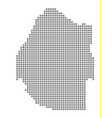 pixel map of swaziland dotted map of swaziland vector image vector image