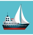 sailboat ship isolated icon vector image