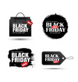 set black friday sale abstract banner vector image vector image