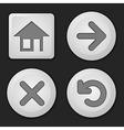 set button vector image vector image