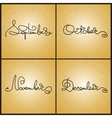 Set handwritten calligraphy words September vector image vector image
