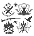 set hunting club labels in vintage style vector image vector image