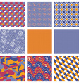 Set of Geometric Seamless Pattern Backgrounds vector image vector image