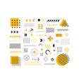 set of geometric shapes abstract design elements vector image vector image