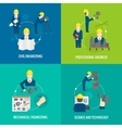 Set of proffession engineer composition vector image vector image