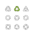 Set of sketch doodle recycle reuse symbol vector image vector image