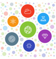 shine icons vector image vector image