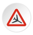 Sign airport icon flat style vector image vector image