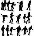 skating silhouette vector image vector image