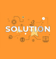 solution text concept modern flat style vector image