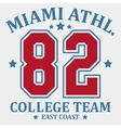 Sportswear Team Emblem Athletic College vector image