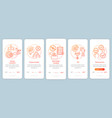 startup onboarding mobile app page screen vector image vector image
