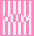 stylish striped icon of white pink mustache vector image