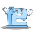 successfull sewing machine emoticon character vector image