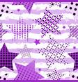 ultra violet stars background vector image vector image