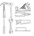 Vintage Style Hand Tools for Construction vector image
