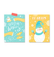 warm wishes be merry card vector image vector image