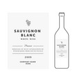 white wine label premium template clean vector image vector image