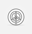 wind turbine in circle outline concept icon vector image