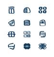 windows logo set emblem symbol element icons vector image