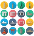 World Landmark Icon Set vector image vector image