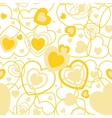 Yellow Heart shape seamless background Template vector image vector image