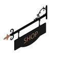 shop sign vector image