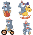 A set of bears cartoon vector image
