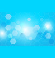 abstract blue hexagons technology concept vector image vector image