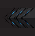 abstract blue light black line cyber arrow direct vector image vector image