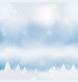 abstract christmass winter background vector image