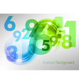 Abstract shape with numbers green vector image