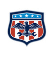american eagle mechanic usa flag crest vector image vector image