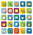 application color icons with long shadowset 2 vector image vector image