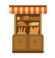 Bakery shelf Baking Showcases icon Bread on the vector image