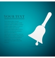 Bell flat icon on blue background vector image