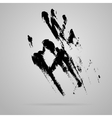 black smeared hand imprint vector image