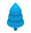 blue fir tree icon isometric style vector image