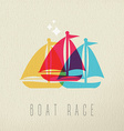 Boat race colorful summer concept background vector image