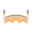 bridge icon flat style vector image