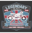 British Motorcycle T-shirt Design vector image vector image