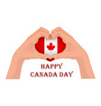 canada day with two hands in the vector image vector image