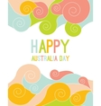 Celebratory Australia Day background vector image