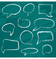 Chalk speech bubbles vector image vector image