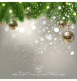 Christmas Background with Falling Snowflakes vector image vector image